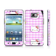 Snooky 39524 Digital Print Mobile Skin Sticker For Samsung Galaxy S2 I9100 - Pink