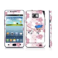 Snooky 39532 Digital Print Mobile Skin Sticker For Samsung Galaxy S2 I9100 - White