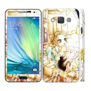 Snooky 39557 Digital Print Mobile Skin Sticker For Samsung Galaxy A3 - White