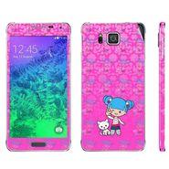 Snooky 39591 Digital Print Mobile Skin Sticker For Samsung Galaxy Alpha - Pink