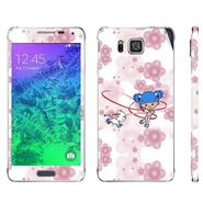 Snooky 39592 Digital Print Mobile Skin Sticker For Samsung Galaxy Alpha - White