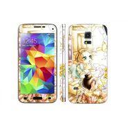 Snooky 39617 Digital Print Mobile Skin Sticker For Samsung Galaxy S5 - White