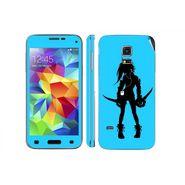 Snooky 39622 Digital Print Mobile Skin Sticker For Samsung Galaxy S5 - Blue