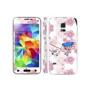Snooky 39640 Digital Print Mobile Skin Sticker For Samsung Galaxy S5 Mini - White