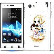 Snooky 39661 Digital Print Mobile Skin Sticker For Sony Xperia J - White