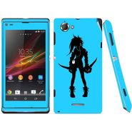 Snooky 39670 Digital Print Mobile Skin Sticker For Sony Xperia L S36h C2105 - Blue