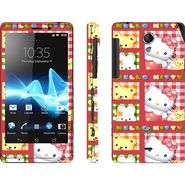 Snooky 39702 Digital Print Mobile Skin Sticker For Sony Xperia T Lt30p - Pink