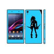 Snooky 39742 Digital Print Mobile Skin Sticker For Sony Xperia Z1 - Blue