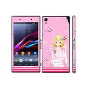 Snooky 39744 Digital Print Mobile Skin Sticker For Sony Xperia Z1 - Pink