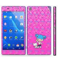 Snooky 39759 Digital Print Mobile Skin Sticker For Sony Xperia Z2 - Pink