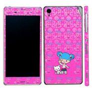 Snooky 39771 Digital Print Mobile Skin Sticker For Sony Xperia Z3 - Pink