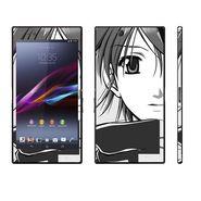 Snooky 39794 Digital Print Mobile Skin Sticker For Sony Xperia Z Ultra - Grey