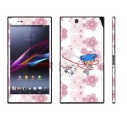 Snooky 39796 Digital Print Mobile Skin Sticker For Sony Xperia Z Ultra - White