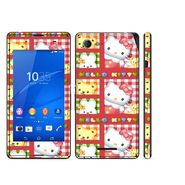 Snooky 39798 Digital Print Mobile Skin Sticker For Sony Xperia E3 Dual - Pink