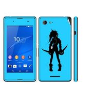 Snooky 39802 Digital Print Mobile Skin Sticker For Sony Xperia E3 Dual - Blue