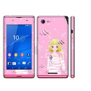 Snooky 39804 Digital Print Mobile Skin Sticker For Sony Xperia E3 Dual - Pink