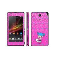 Snooky 39819 Digital Print Mobile Skin Sticker For Sony Xperia ZR - Pink