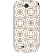Snooky 40361 Digital Print Mobile Skin Sticker For Micromax Canvas Elanza A93 - Brown