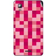 Snooky 40549 Digital Print Mobile Skin Sticker For Micromax Canvas Doodle 3 A102 - Purple