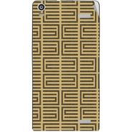 Snooky 40910 Digital Print Mobile Skin Sticker For XOLO A1000S - Brown