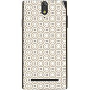 Snooky 41131 Digital Print Mobile Skin Sticker For XOLO Q1020 - Brown