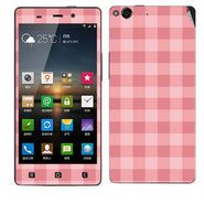 Snooky 41262 Digital Print Mobile Skin Sticker For Gionee Elife E6 - Pink