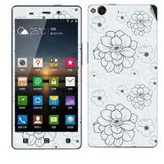 Snooky 41267 Digital Print Mobile Skin Sticker For Gionee Elife E6 - Grey