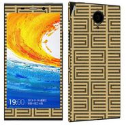 Snooky 41274 Digital Print Mobile Skin Sticker For Gionee Elife E7 - Brown