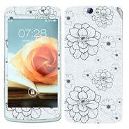Snooky 41337 Digital Print Mobile Skin Sticker For OPPO N1 - Grey
