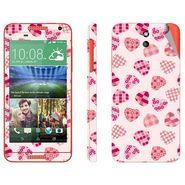 Snooky 41390 Digital Print Mobile Skin Sticker For HTC Desire 610 - White