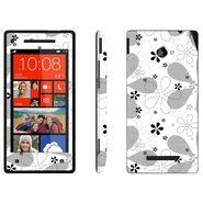 Snooky 41436 Digital Print Mobile Skin Sticker For HTC 8X C620E - White