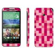Snooky 41473 Digital Print Mobile Skin Sticker For HTC One E8 - Purple