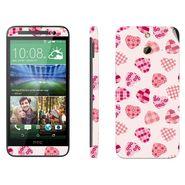 Snooky 41474 Digital Print Mobile Skin Sticker For HTC One E8 - White