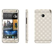 Snooky 41481 Digital Print Mobile Skin Sticker For HTC One M7 - Brown