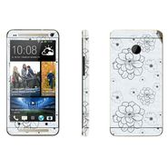 Snooky 41491 Digital Print Mobile Skin Sticker For HTC One M7 - Grey