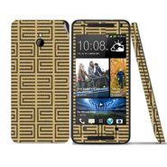 Snooky 41498 Digital Print Mobile Skin Sticker For HTC One mini - Brown