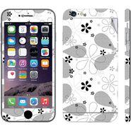 Snooky 41548 Digital Print Mobile Skin Sticker For Apple Iphone 6 - White