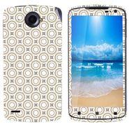 Snooky 41593 Digital Print Mobile Skin Sticker For Lenovo S920 - Brown