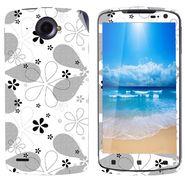 Snooky 41604 Digital Print Mobile Skin Sticker For Lenovo S920 - White