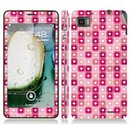 Snooky 41615 Digital Print Mobile Skin Sticker For Lenovo K860 - Pink