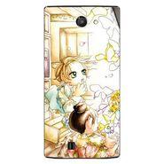 Snooky 41659 Digital Print Mobile Skin Sticker For Lava Iris 456 - White