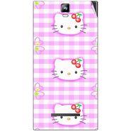 Snooky 41698 Digital Print Mobile Skin Sticker For Lava Iris 504Q Plus - Pink