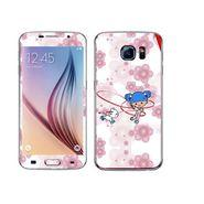 Snooky 41858 Digital Print Mobile Skin Sticker For Samsung Galaxy S6 - White