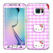 Snooky 41865 Digital Print Mobile Skin Sticker For Samsung Galaxy S6 Edge - Pink