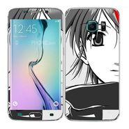 Snooky 41867 Digital Print Mobile Skin Sticker For Samsung Galaxy S6 Edge - Grey