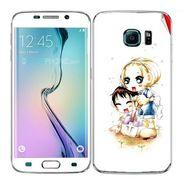 Snooky 41870 Digital Print Mobile Skin Sticker For Samsung Galaxy S6 Edge - White