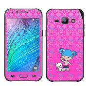 Snooky 41890 Digital Print Mobile Skin Sticker For Samsung Galaxy J1 - Pink