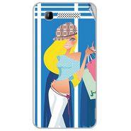 Snooky 41893 Digital Print Mobile Skin Sticker For Intex Aqua 3G - Blue