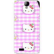 Snooky 41920 Digital Print Mobile Skin Sticker For Intex Aqua Amaze - Pink