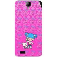 Snooky 41923 Digital Print Mobile Skin Sticker For Intex Aqua Amaze - Pink